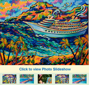 Photo Slideshow of Camile Fontaine's artwork at The Garden Island Inn