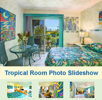Photo Slideshow of the Tropical Rooms at The Garden Island Inn