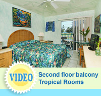 Video of the Tropical Rooms at The Garden Island Inn